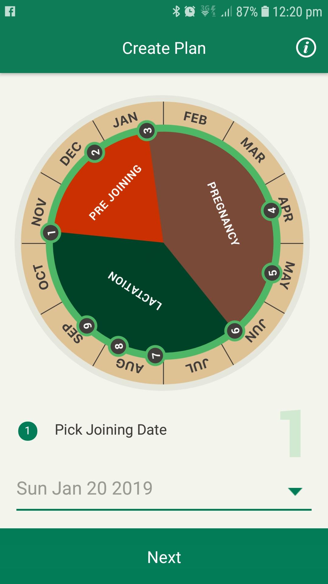 Pregnancy Planner app