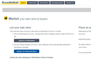 Ram Select now free for ram breeders