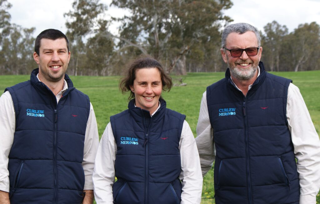 DIVERSIFIED FAMILY BUSINESS: Woolgrowers and prime lamb producers Bernie, Elise and Tony Kealy at Curlew, Edenhope.