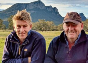 Sam and Wayne Hasell, Myonagh, Dunkeld, have been using White Suffolk sires over their Merino ewes for the past 15 years and continue to be pleased with the cross.